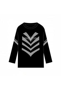 Accelerator Toaru Majutsu no Index Unisex Anime Long Sleeve T-shirts Costume Black