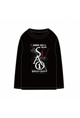 Kirigaya Kazuto Sword Art Online SAO Anime Long Sleeve T-shirts Cosplay Costume Black