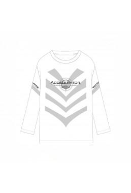 Accelerator Toaru Majutsu no Index Unisex Anime Long Sleeve T-shirts Costume White